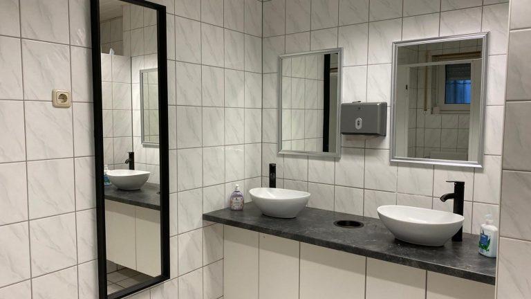 Das Damen WC ist ebenfalls bereits modernisiert